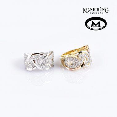 nhẫn nữ vàng ý thời trang