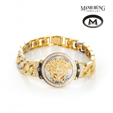 vòng tay versace thời trang, vòng tay thời trang, vòng tay italia, vòng tay vàng tây