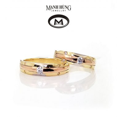 Nhẫn cưới vàng ý 18k