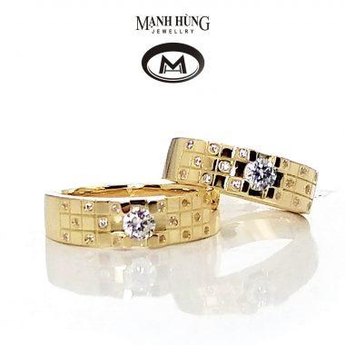 nhẫn cưới vàng ý nhập khẩu, nhẫn cưới đẹp vàng ý