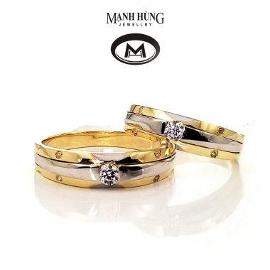 Nhẫn cưới cao cấp vàng Ý
