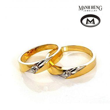 Nhẫn cưới vàng 18K đẳng cấp