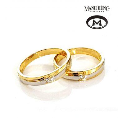 Nhẫn cưới vàng 18K cao cấp