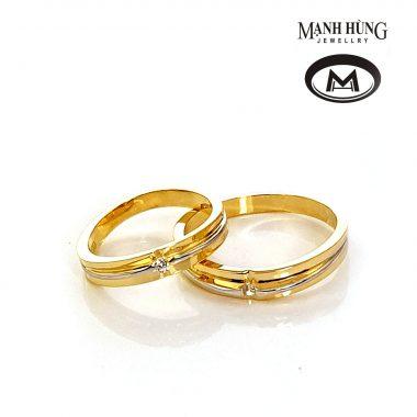 Nhẫn cưới vàng tây sang trọng