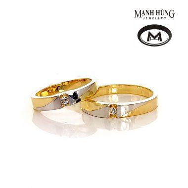 Nhẫn cưới vàng Ý sang trọng WR031901 - Vàng Mạnh Hùng