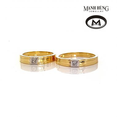 Nhẫn cưới vàng Ý thanh lịch WR031902