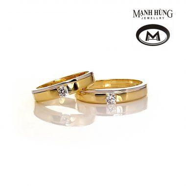 Nhẫn cưới vàng Ý tinh tế WR031903 - Vàng Mạnh Hùng