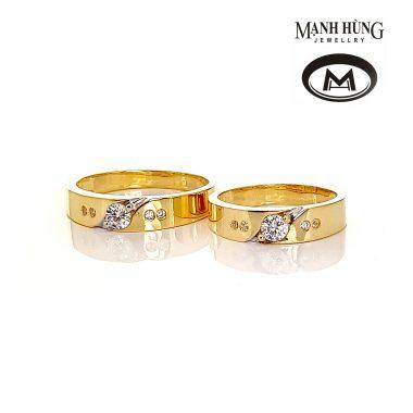 Nhẫn cưới vàng tây nhập khẩu WR031904