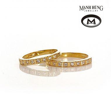Nhẫn cưới vàng Ý 18K 750