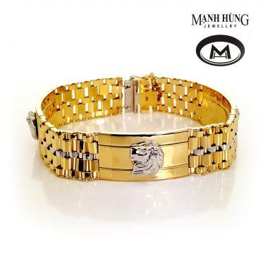 Vòng tay vàng tây cá tính thiết kế giúp bạn nổi bật và khác biệt. Vàng ý 18k nhập khẩu được chế tác tinh xảo trên công nghệ hiện đại nhất