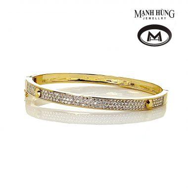 Lắc tay nữ vàng Ý thời trang BL031904