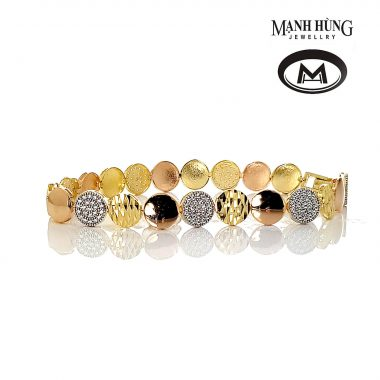 Lắc tay nữ vàng tây sành điệu BL031905