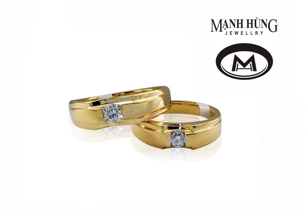 giá thành của vàng 18k rất hợp lý, phù hợp với điều kiện kinh tế của rất nhiều cặp đôi