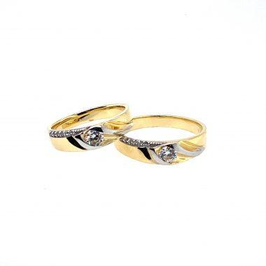 Nhẫn cưới cao cấp vàng Ý 18K