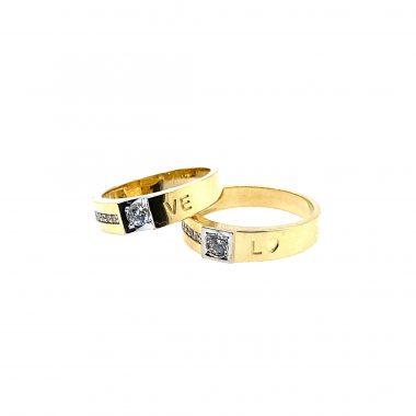 Nhẫn cưới vàng 18K đính đá cao cấp