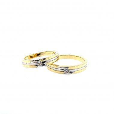 nhẫn cưới vàng 750 sang trọng