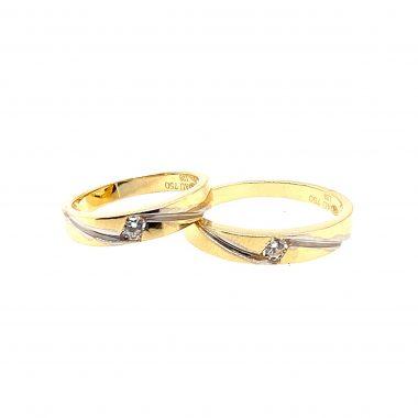 Nhẫn cưới vàng tây 750 cao cấp