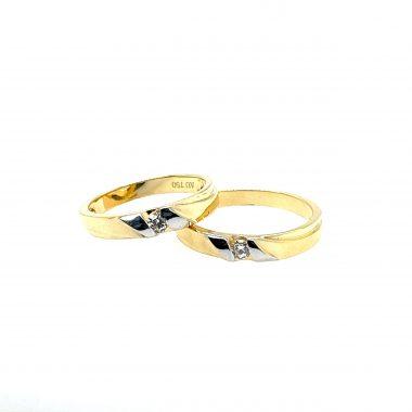Nhẫn cưới vàng tây cao cấp