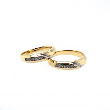 Nhẫn cưới vàng Ý thanh lịch