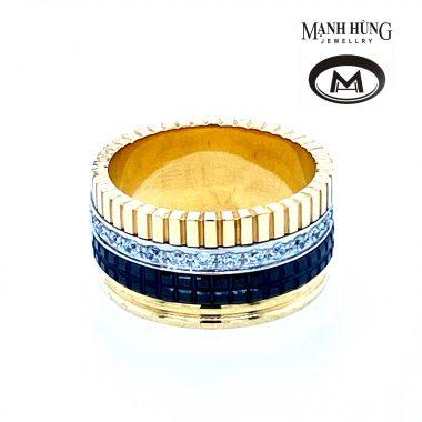 Nhẫn nam vàng Ý phong cách