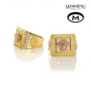 Nhẫn nam Versace vàng Ý